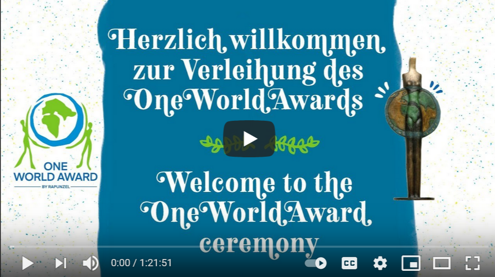 Youtube Video vom One World Award